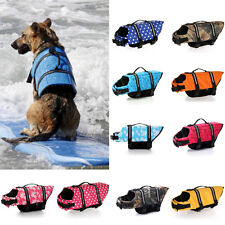 Pet Dog Life Preserver Jacket Swim Surf Safety Floatation Vest Saver Swimwear