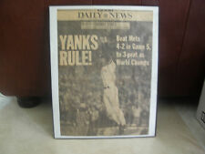2000 SUBWAY SERIES YANKS BEATMETS 4-2 IN GAME 5-NY DAILY NEWS HEADLINES FRAMED