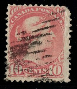#45a Small Queen 10c Canada used well center