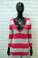 Maglione Donna Hollister Taglia L Pullover Sweater Woman Felpa Maglia a Righe