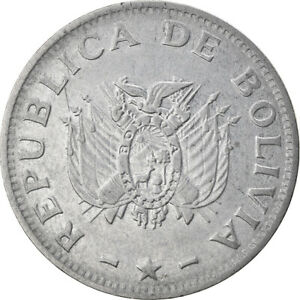 [#747275] Coin, Bolivia, 50 Centavos, 1995, EF, Stainless Steel, KM:204
