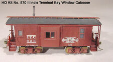 LaserKit HO Scale Illinois Terminal Bay Wind Caboose Kit  #870 Bob The Train Guy