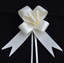 50mm Large 20 Pull Bow Ivory Ribbons Wedding Floristry Car Gift Decorations
