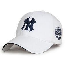 White Men Women Adjustable Snapback Sport Bboy Hip-Hop NY Baseball Cap Sun Hat A