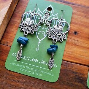 Wild at Heart Earrings Sterling Silver Hooks Apatite Hippie GypsyLee Jewels Boho