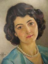 1 von 2 : Münchner Schule Passau Max Rimboeck Mädchen Dame Art Deco Portrait