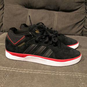 Adidas Tyshawn Mens Shoes Size 10 Core Black Scarlet Gold Metallic FV5860