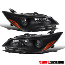 For 2015-2017 Toyota Camry Black Projector Headlights Lamps Pair+Amber