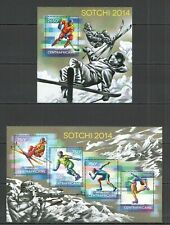 CA519 2014 CENTRAL AFRICA SPORT WINTER OLYMPIC GAMES SOCHI 2014 KB+BL MNH