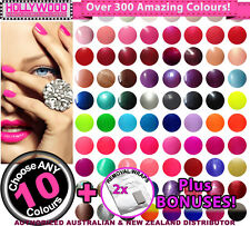 10x Bluesky UV/LED SoakOff Gel Nail Polish +Removal Wraps +BONUSES(300+ Colours)