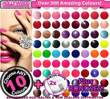 10x Bluesky UV/LED SoakOff Gel Nail Polish +Removal Wraps +BONUSES(300+ Colours)