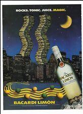 Bacardi Limon Rum Ad ~ NYC World Trade Center ~ Rocks.Tonic.Juice.Magic ~ Framed