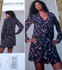 LOVELY DRESS VOGUE DESIGNER Rebecca Taylor Sewing Pattern 14-16-18-20 UNCUT