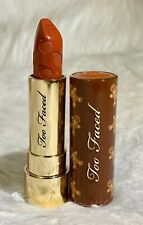 New TOO FACED Peach Kiss Lipstick in Gingerbread Man FULL SIZE
