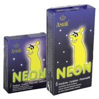 Amor Neon, 2/6 leuchtende Kondome, Condome, Leuchtkondome