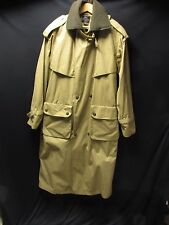 Willis & Geiger British Tan Duster Trench Coat Wool Lined Equine Men's M WOR