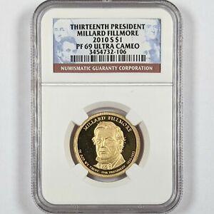 2010-S President Millard Fillmore $1 NGC PR 69 Ultra Cameo 181663B