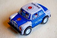 """Made in Japan VINTAGE Tin Toy New Sanko Friction 3"""" Benz Mercedes Patrol Car"""