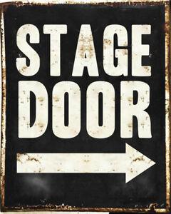 STAGE DOOR DANCE THEATRE SCHOOL PANTOMIME CABARETS METAL RETRO VINTAGE TIN SIGN