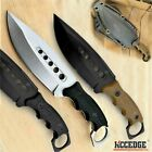 """9"""" FULL TANG FIXED BLADE KNIFE Kydex Sheath Hunting Knife Drop Point Blade"""