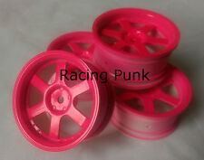 Rc Car 1/10 Drift 5 Spoke 37R Rims Wheels 3mm Offset fits Tamiya HPI HSP PINK x4