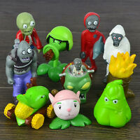 10 Plants v Zombies Action Figures DR.ZOMBOSS PVC Toy Set Kids Cake Topper Decor