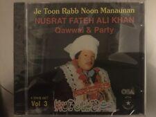 Je Toon Rabb Noon Manaunan Vol3 - Ustad Nusrat Fateh Ali Khan & Party Qawwali CD