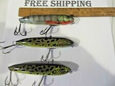 LOT OF 3 Heddon Zara Spook Charlie Campbell Signature Topwater Bait FISHING LURE