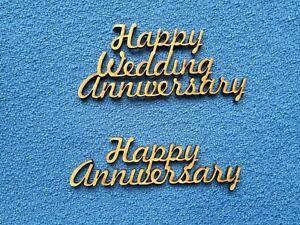3mm mdf wooden Happy  Wedding/Anniversary craft blanks