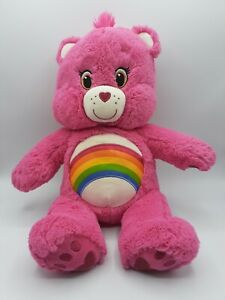 "Build-A-Bear Workshop 18"" Care Bear Cheer Bear Plush Soft Toy Pink Rainbow VGC"