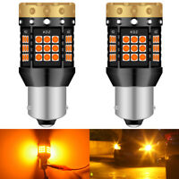 1156 BA15S P21W Canbus LED clignotant de voiture inversé arrière ampoules ambre