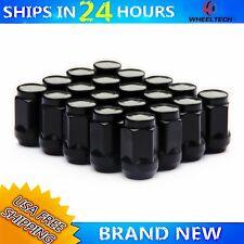 20 Wheel Lug Nuts M12x1.5 For Toyota Tacoma Tundra FJ Cruiser Black Steel Alloy