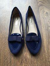 Dorothy Perkins Navy Flat Pumps Shoes Size 6