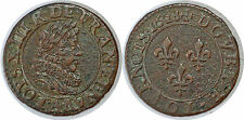 LOUIS XIII DOUBLE TOURNOIS 1628 A PARIS G.9a