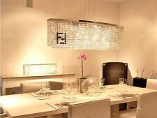 Luxury 60cm Modern Rectangle LED Crystal Dining Room Bar Restaurant Chandelier