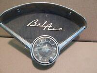 OEM 1955-1956 Chevrolet Bel Air Logo Dash Insert Speaker Bezel With Clock