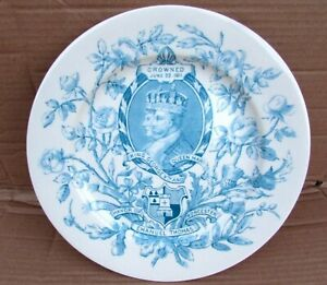 Rare 1911 Royal Worcester Coronation of KGV & Queen Mary Commemorative Plate VGC