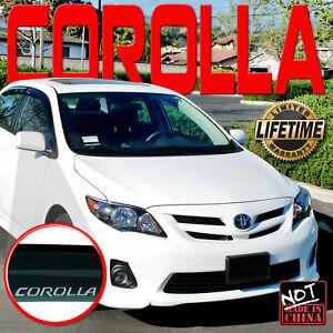 Fits 08-2013 Toyota Corolla Window Visor Rain Deflector Vent Shade Guard w/ Logo