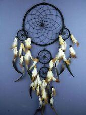 Black dream catcher traditonal APACHE STYLE dreamcatcher LARGE decoration 22CM