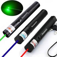 3x Super Bright 900miles Laser Pointer Pen Red+Green+Blue Purple Lazer Beam Lamp