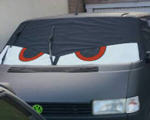 VW T4 original Bus Eyes screen cover / wrap Buseyes blind Angry eyes Black