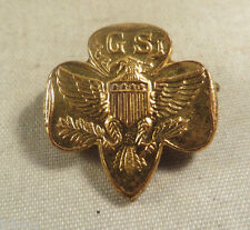 Vintage Girl Scouts of America Gold Lapel Pin Badge