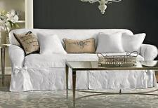 Attractive Sure Fit White Matelasse Damask One Piece Slip Cover Slipcovers Sofa Only