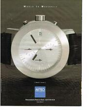 PUBLICITE ADVERTISING   2000   AKTEO   collection modèle SAHARA  montre