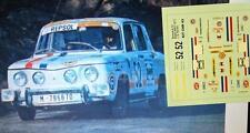 "DECAL CALCA 1/43 RENAULT 8 TS ""ESCUDERIA REPSOL"" J.G. RASILLA RALLY RACE 1971"