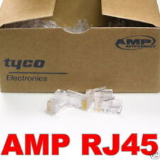 100 Pcs AMP Tyco RJ45 Cat5 Modular Plug Network Connector New