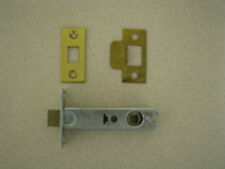 Single (3.5 inch) Tubular Mortice Door Latch with Face & Receiver.