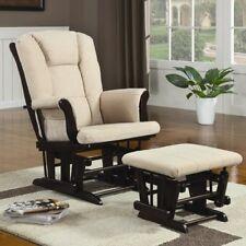 Cherry Glider w/ Ottoman Gliders Baby Nursery Furniture Rocker Rocking Chairs
