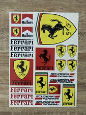 Planche d'autocollant Ferrari format A4 voiture moto stickers scuderia racing F1