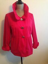 Hot Pink Women's Babydoll Coat By AGB Size 8